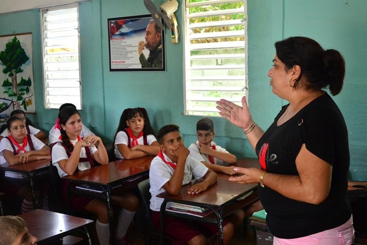Cuba destina el 13% de su Producto Interno Bruto (PIB) al desarrollo educativo. (Osvaldo Gutiérrez Gómez / ACN)