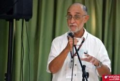 Manuel Rivero, reconocido investigador cubano, participa en Primer Encuentro de Experiencias Mediáticas Alternativas, prmovido por el ICAP, efectuado en el Hotal Pernik de Holguín. VDC FOTO/Luis Ernesto Ruiz Martínez.