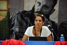 Támara Velázquez, Directora de Información y Análisis del ICAP en el Primer Encuentro de Experiencias Mediáticas Alternativas, prmovido por el ICAP, efectuado en el Hotal Pernik de Holguín. VDC FOTO/Luis Ernesto Ruiz Martínez.