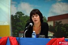 Laura Virginia Mor, representa a Resumen Latinoamericano en el Primer Encuentro de Experiencias Mediáticas Alternativas, prmovido por el ICAP, efectuado en el Hotal Pernik de Holguín. VDC FOTO/Luis Ernesto Ruiz Martínez.