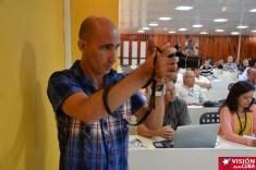 Francisco Rojas González, profesor de la Universidad de Holguín, en el Primer Encuentro de Experiencias Mediáticas Alternativas, prmovido por el ICAP, efectuado en el Hotal Pernik de Holguín. VDC FOTO/Luis Ernesto Ruiz Martínez.