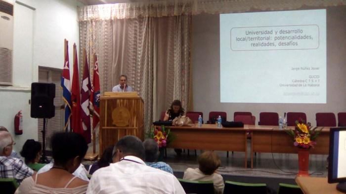 Jorge Núñez Jover, Coordinador del Grupo de Expertos GUCID diserta sobre los fundamentos y relevancia de los empeños de GUCID.