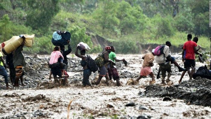 Fuerte inundación dejó Matthew a su paso por Haití. Foto tomada de internet.