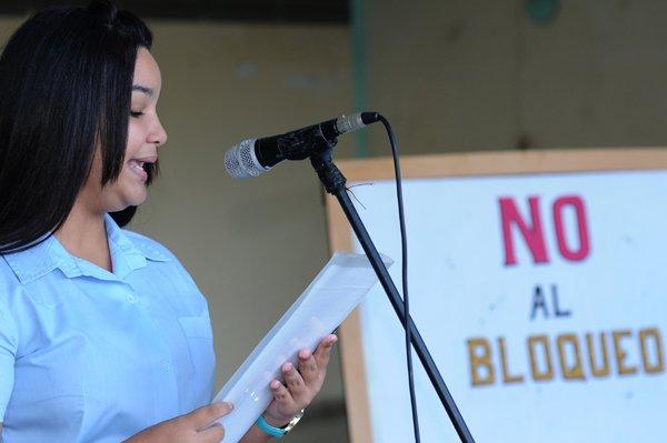 La denuncia contra el bloqueo sigue en toda Cuba. Fotos: Yusleydis Socorro.