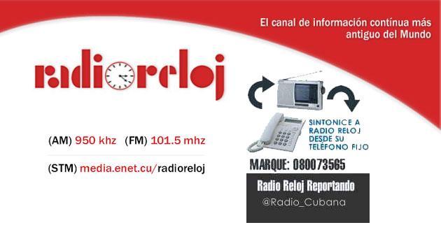 Radio Reloj puede sintonizarse desde un teléfono fijo.