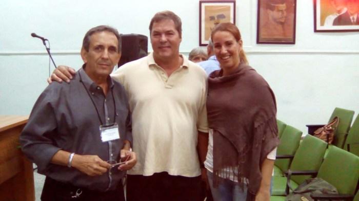 El Taller brindó la oportunidad para un rápido intercambio de ideas con el Héroe de la República de Cuba Ramón Labañino, cuya presencia fue un alto honor para los delegados.
