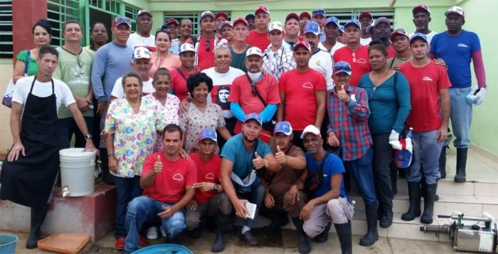 Miembros de la Brigada Médica Cubana que permanece en Haití.