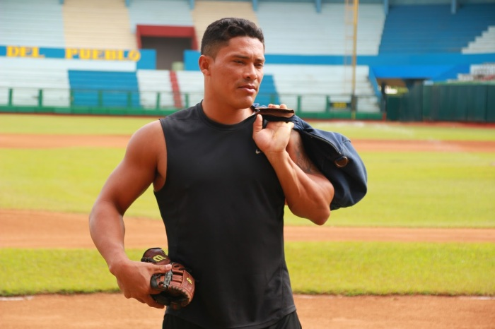 Everth Cabrera en el Estadio Calixto García. Foto: Reynaldo Cruz.