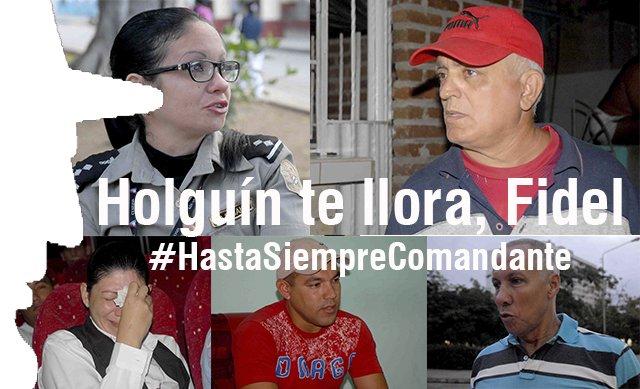 Pesar en Holguín por muerte de Fidel.