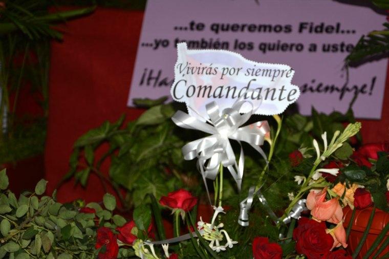 El tributo a Fidel en Holguín tuvo muchas maneras de manifestarse. Foto: Luis Ernesto Ruiz Martínez.