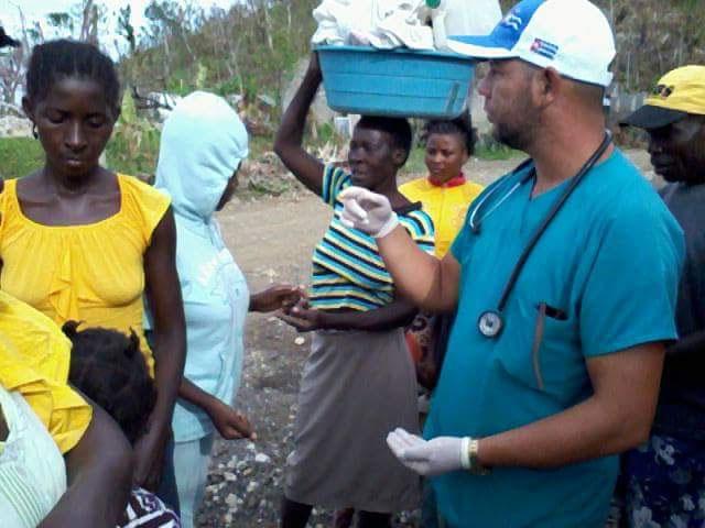 Enmanuel Vigil en Haití.