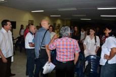 Antonio Moltó, Presidente de la UPEC, y Luis Sexto, Presidente de la Comisión Nacional de ética de esa organización, visitan la Universidad de Holguín donde intercambian con estudiantes y profesores. UHO-FOTO/Luis Ernesto Ruiz Martínez-Dircom