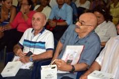 Antonio Moltó, Presidente de la UPEC, y Luis Sexto, Presidente de la Comisión Nacional de ética de esa organización, visitan la Universidad de Holguín. UHO-FOTO/Luis Ernesto Ruiz Martínez-Dircom