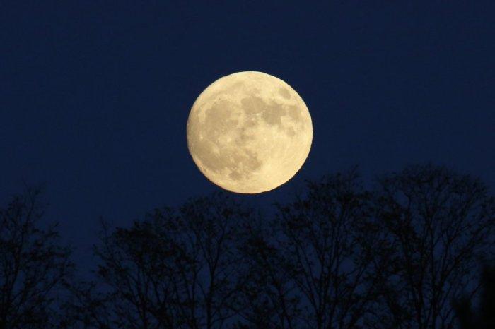 Las vistas de la luna en Springfield, Virginia. SHAWN THEW (EFE)