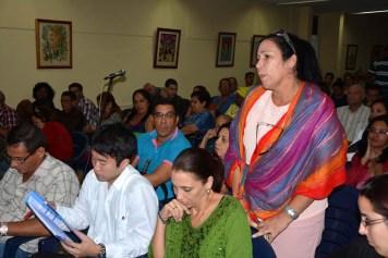 Los asistentes dirigieron sus interrogantes al Excmo Sr. Masaru Watanabe, Embajador de Japón en Cuba, durante la conferencia ofrecida en la Sede Celia Sánchez de la Universidad de Holguín. UHO FOTO/Luis Ernesto Ruiz Martínez-Dircom