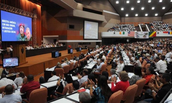 Acto por el XII aniversario de la creación de la Alianza Bolivariana para los Pueblos de Nuestra América-Tratado de Comercio de los Pueblos (ALBA-TCP) y en Solidaridad con la Revolución bolivariana, en el Palacio de Convenciones, en La Habana, Cuba, el 14 de diciembre de 2016.  ACN   FOTO/Omara GARCÍA MEDEROS