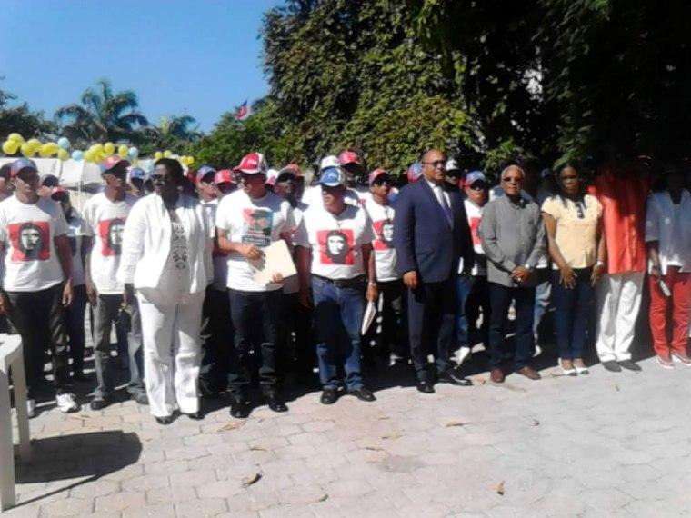 Acto de despedida de la Brigada Médica Henry Reeve, por parte de la Brigada Médica permanente en Haití.