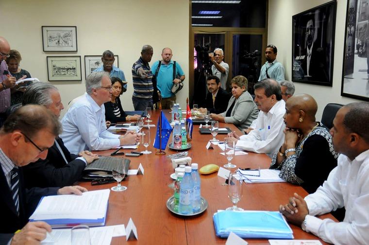 Inicio de la 7ma ronda de negociaciones entre la Unión Europea y Cuba. (MINREX)