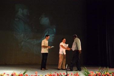 Acto de reconocimiento por el Día del Educador. Efectuado el 22 de diciembre de 2016 en el Teatro Eddy Suñol. UHO FOTO/Luis Ernesto Ruiz Martínez.