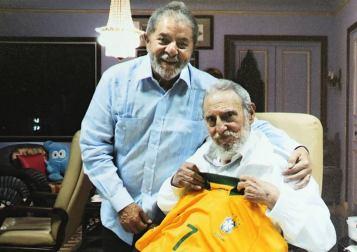 Con Lula el 28 de febrero de 2014.