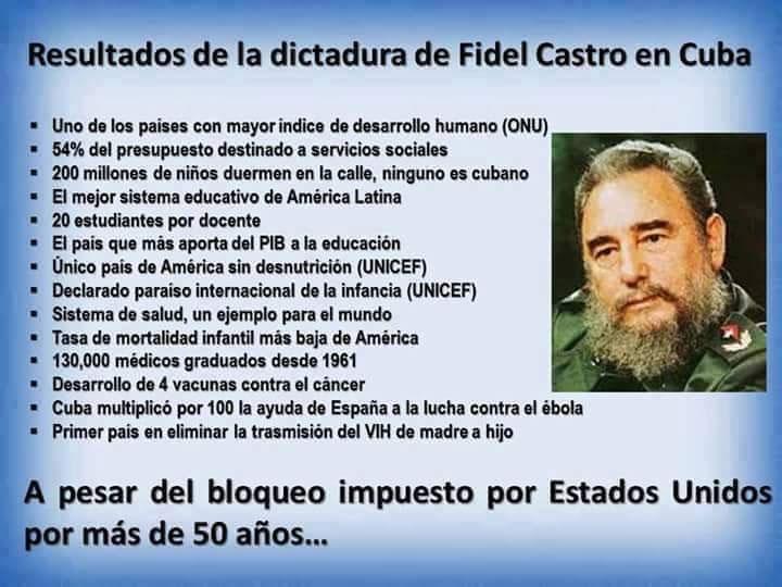 Algunos de los resultados del paso de Fidel Castro por Cuba. Foto tomada de Facebook.