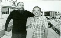 Fidel y Gabriel García Márquez.