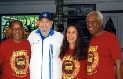 Fidel y pastores por la paz.