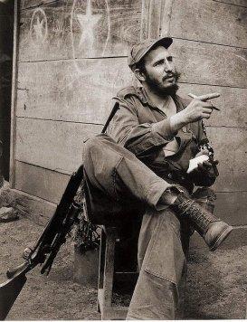 Fidel en la Sierra Maestra. 1958.