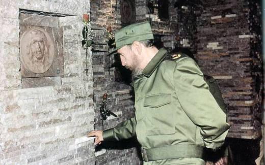 Fidel en Santa Clara, ocubre de 1997.