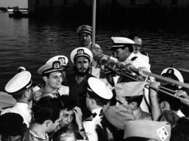 En el Yate Granma, La Habana el 8 de enero de 1959