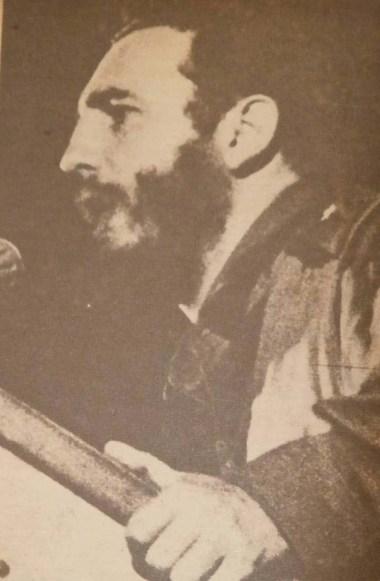 """El Primer Ministro del Gobierno Revolucionario, Comandante en Jefe Fidel Castro Ruz preside el acto de apertura del Instituto de Ciencias Básicas y Preclínicas """"Victoria de Girón"""". Octubre de 1962."""