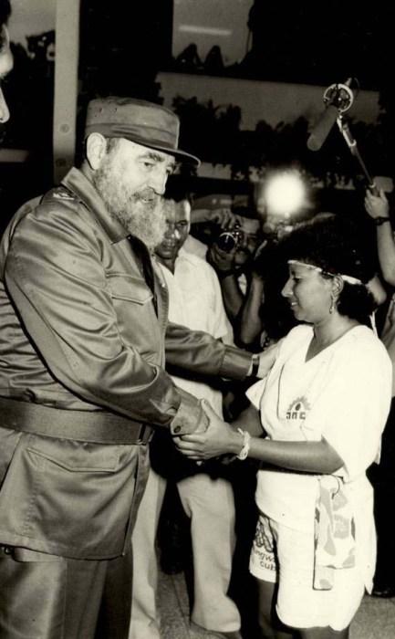 El Presidente de los Consejos de Estado y de Ministros, Comandante en Jefe Fidel Castro Ruz inaugura el Centro Nacional de Rehabilitación para Ciegos y Débiles Visuales, construido con colaboración del Reino de Noruega. Bejucal, La Habana, 22 de octubre de 1990.