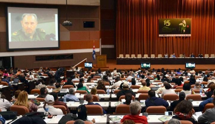 Panel Especial Fidel Castro, educador de la esperanza, en el encuentro internacional por la unidad de los educadores Pedagogía 2017, en el Palacio de las Convenciones, en La Habana, el 31 de enero de 2017. ACN FOTO/Marcelino VAZQUEZ HERNANDEZ