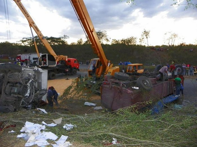 Accidente en Santiago de Cuba. Foto: Eduardo Palomares Calderón /Granma.