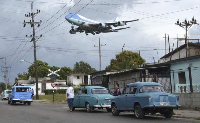 """Llegada del Air Force One"" a La Habana, en marzo de 2016. Foto:Yander Zamora."