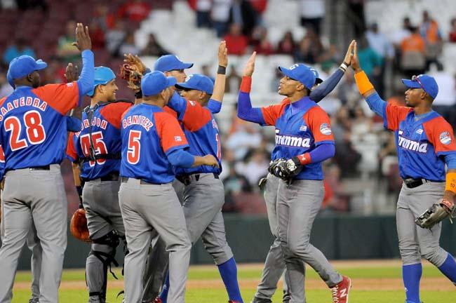 Alazanes de Granma vencen cuatro carreras por cero a los dominicanos de los Tigres del Licey, en el estadio de Tomateros de Culiacán, estado Sinaloa, México. ACN   Ricardo LÓPEZ HEVIA/Periódico Granma