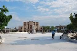 Reparación del parque Calixto García. Foto: Carlos Parra Zaldívar.