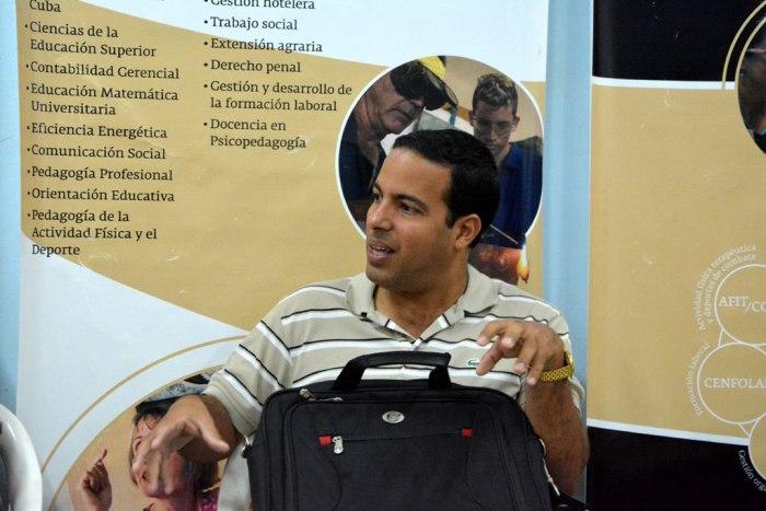 MSc. Lucien Lozada Fonseca, Jefe del Departamento de Comunicación Institucional en la Universidad de Las Tunas.