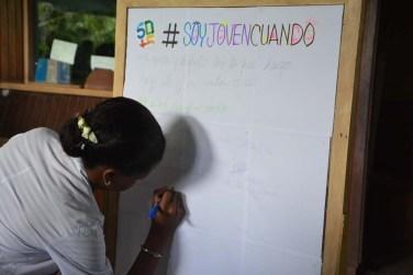 """Presentación de la Campaña Comunicacional """"50 + 5 Sumando Ideas"""", por el 55 aniversario de la UJC. Desarrollada el 2 de febrero de 2017 en la sede José de la Luz y Caballero de la Universidad de Holguín. UHO FOTO/Luis Ernesto Ruiz Martínez"""