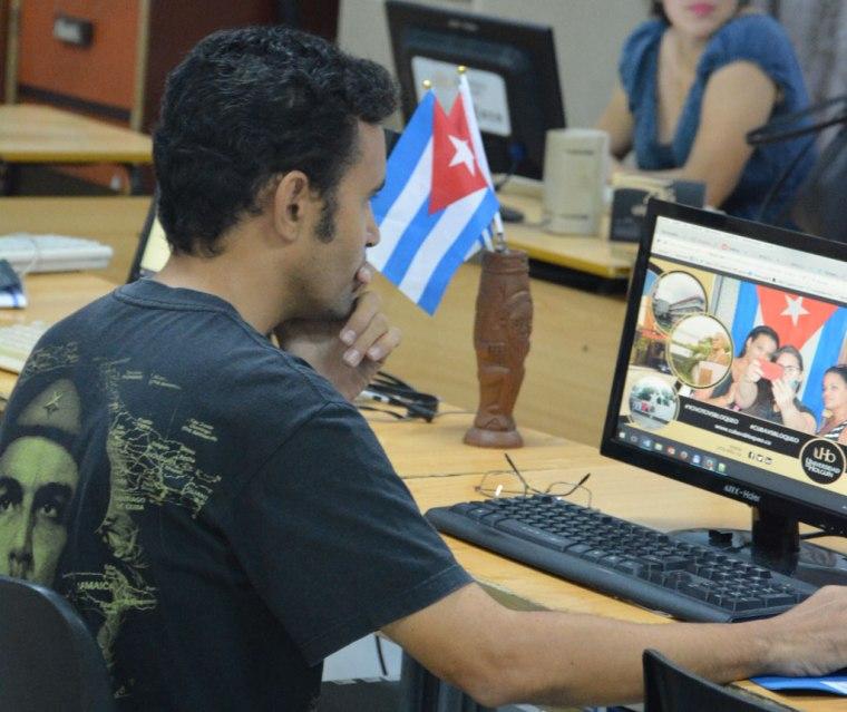 Yusmel Pérez en la Universidad de Holguín. VDC FOTO/ Luis Ernesto Ruiz Martínez.