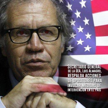 Almagro arremete contra Venezuela desde que asumió la dirección de la OEA.
