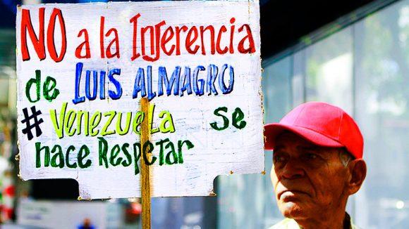 El mensaje de los venezolanos es bien claro. Foto tomada de Cubadebate.