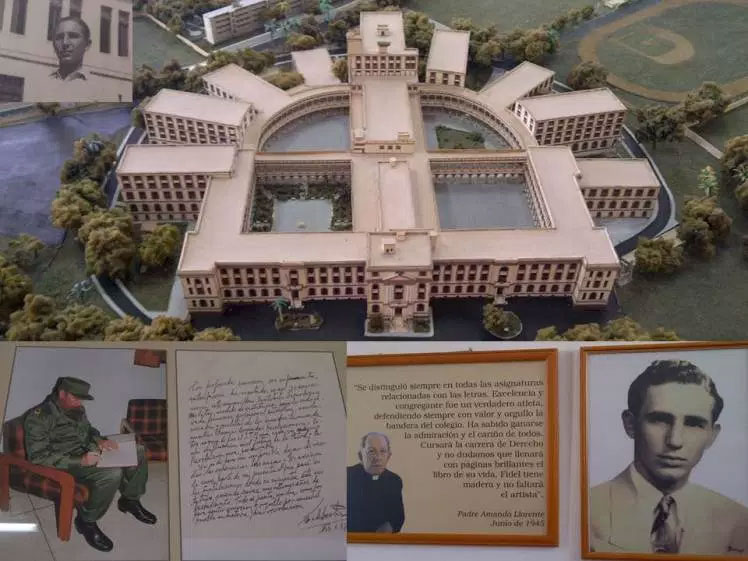 Fidel Castro dejó su huella en el Colegio de Belén.