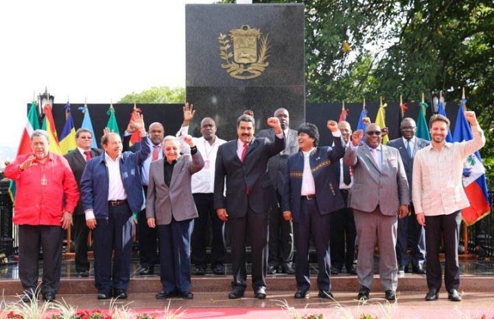 Jefes de Estado y de Gobierno presentes en la XIV Cumbre del ALBA-TCP. Caracas, marzo de 2017.