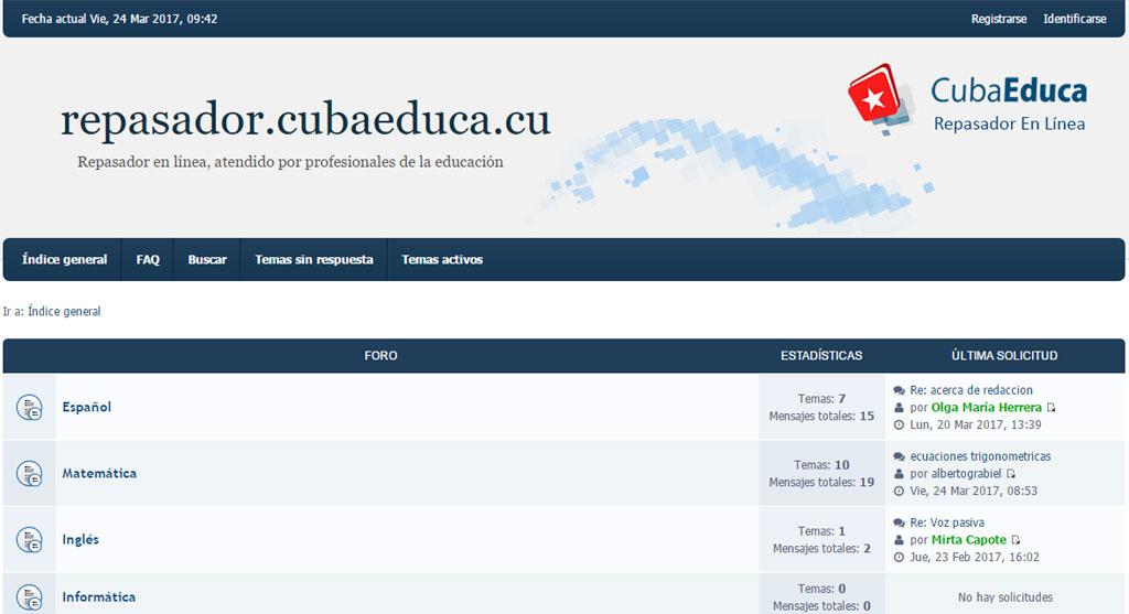CubaEduca ofrece repasador en línea – Visión desde Cuba