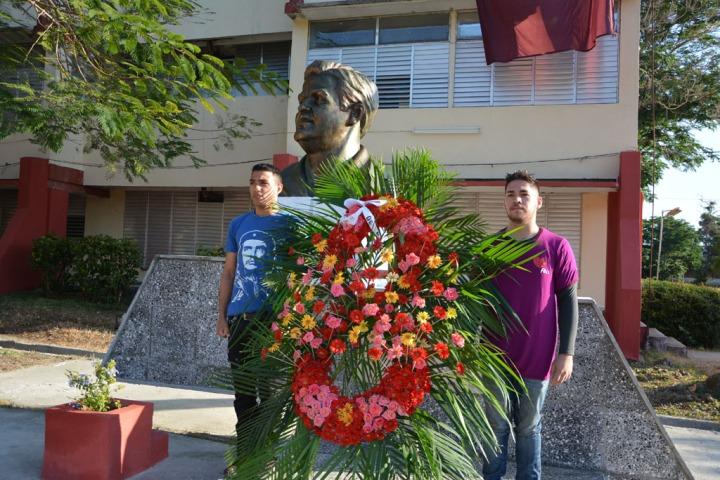 Homenaje de los estudiantes al Presidente de Honor de la FEU en Cuba. Desarrollado en la sede Oscar Lucero Moya, el 13 de marzo de 2017. UHO FOTO/Yudith Rojas Tamayo