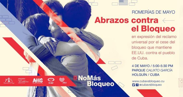 """""""Abrazos contra el bloqueo"""", una iniciativa que distingue Bloguerías de Mayo 2017."""