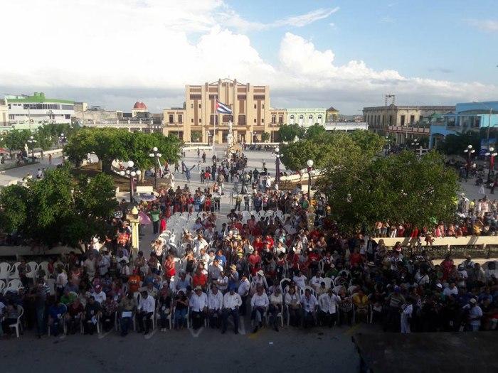 Acto de apertura de la edición 24 de Romerías de Mayo. Foto tomada del perfil de Yuni Cruz Alma.