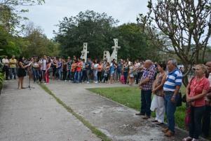 Homenaje a José Martí por el 122 aniversario de su caída en combate. UHO FOTO/Luis Ernesto Ruiz Martínez