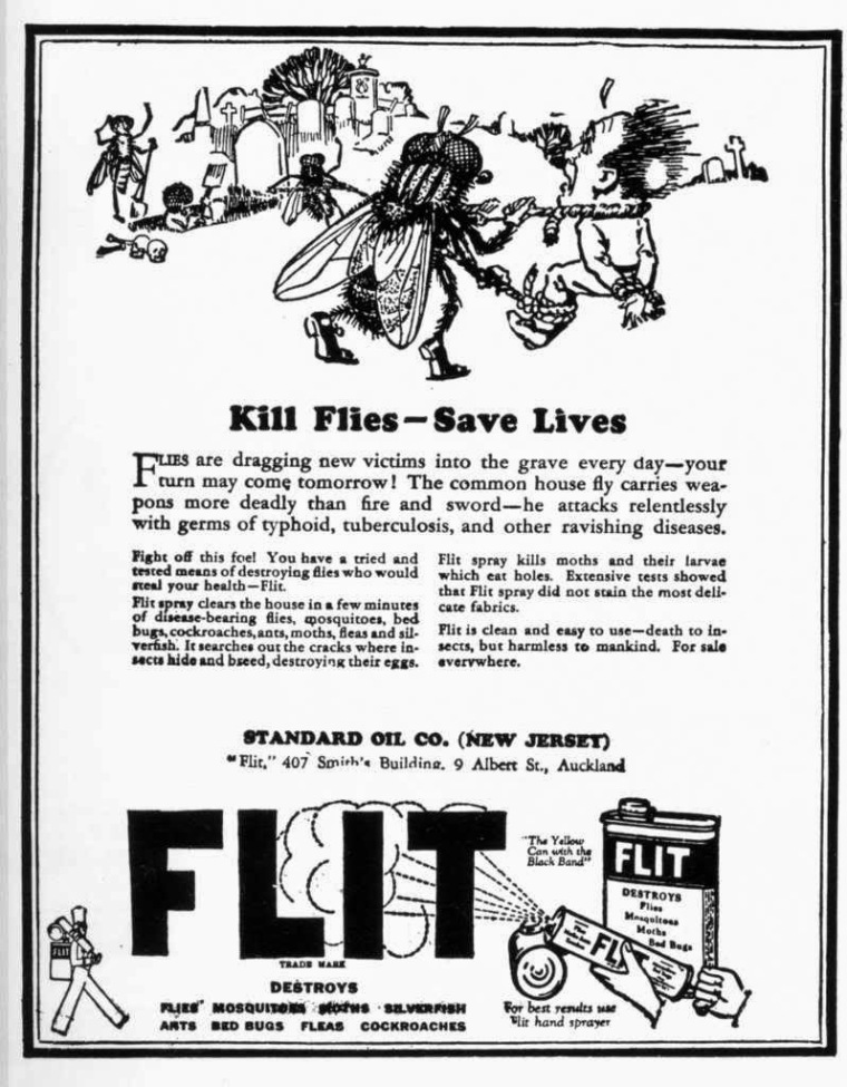Anuncio en ingles del insecticida Flit
